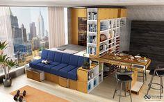Inspired multifunctional bed, sofa, dining, storage, urban living design.