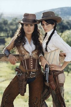 Salma Hayek and Penelope Cruz from Banditas