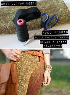 DIY: gold pants