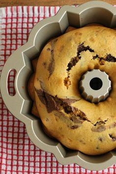 Chocolate Marbled Pumpkin Pound Cake