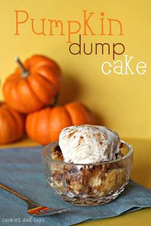 Pumpkin Dump Cake - Can't wait to make this!!! Love Pumpkin