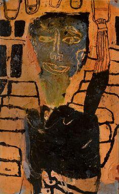 "Lyle Carbajal  ""Self Portrait on the ""L"" - 29"" x 48"" 2013-(available)"
