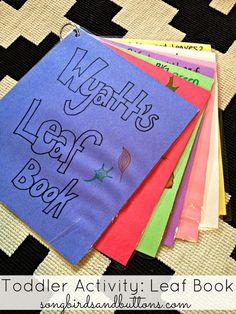 Toddler Activity: Leaf Book #fall #leaves #toddler #learning #activity #leaf #diy