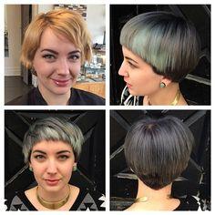 smithanddavissalon Silver mint bowl #hair #makeover #beforeandafter #haircolor #greyhair #silverhair