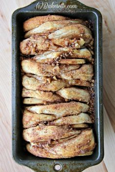 Quick and Easy Apple-Cinnamon Pull-Apart Bread by Bakerette.com