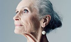 "83 year old model Daphne Selfe, ""I've never had anything done to my face,"" she told the Daily Mail. 'Not that poison, not a face-lift. I think it's a waste of money..."" She's beautiful as is. daphn, inspiration, fashion models, aging gracefully, british, strong women, old styles, beauty shots, supermodels"