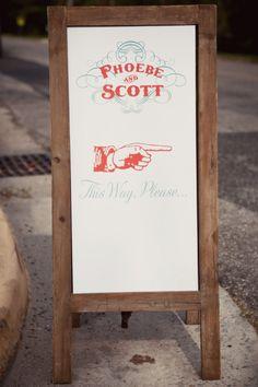 Printed #WeddingSign