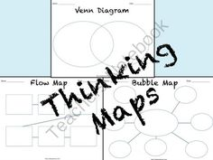 Thinking Maps from Always A Lesson on TeachersNotebook.com -  (3 pages)  - Have students use these three thinking maps (bubble map, venn diagram, and flow map) to track their thinking and organize information!