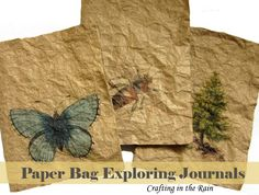 Paper Bag Exploring Journals (Crafting in the Rain) kids journaling, brown paper bags, paper bag crafts, journals for kids, camping crafts kids, brown craft paper, nature journal for kids, nature crafts for kids, art journaling ideas for kids