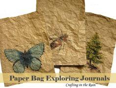 kids journaling, brown paper bags, paper bag crafts, journals for kids, camping crafts kids, brown craft paper, nature journal for kids, nature crafts for kids, art journaling ideas for kids