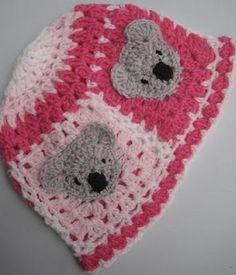 Crochet Koala Beanie Baby Hat