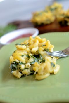 From my heart: Macaroni, Spinach and Cheese muffins