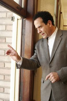 Tony Shalhoub as Monk, the OCD detective... adorable.
