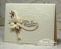 Card Recipe Stamps: Bells and Boughs (retired) Ink: Soft Suede Paper: Very Vanilla, Soft Suede snippets Other: Holiday Frame EF (retired...