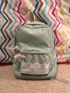 Homemade Lace Backpack :) $45 versus the $75 one I found online!
