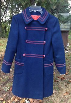 Vintage Womens Wool Coat  Military Sailor by crystalightdesigns, $75.00