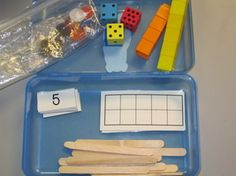Here's a nice idea for using math boxes to represent the number of the day.
