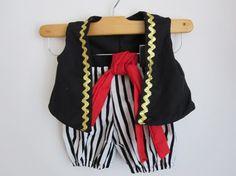 Pirate Boy Costume Vest Knickers and Sash- Sebastian's costume?