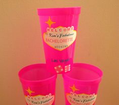 Bachelorette Party in Vegas Personalized Cups Welcome to Las Vegas Sign on Etsy, $6.50