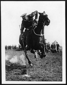 Tent pegging WWI