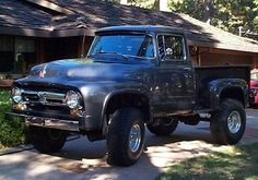 car, f100 beauti, beds, 4x4 f100, bed 4x4, 56 f100, ford truck, beauty, 1956 ford f100