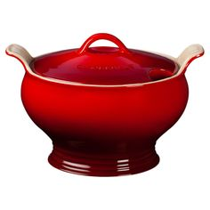 Le Creuset 3-Quart Soup Tureen in Cherry