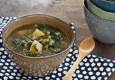 Chard, Lentil, and Potato Slow Cooker Soup