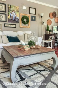 Wait til you see what this Coffee Table looked like BEFORE this beautiful Weathered Gray Makeover. Could you have seen the potential in this piece?