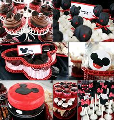 Lauren I bet you could make these.  cute ideas for mickey party - nothing like ol' Mickey