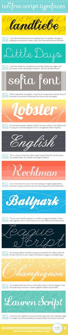 10 free script typefaces (fonts)