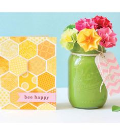 Great #DIY Gift Idea   Spring Card and Vase   Directions and Supplies available at Joann.com