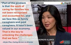 Our co-director @aijenpoo shares why we need to value #caregiving.  #WEmatter - Caring Across Generations
