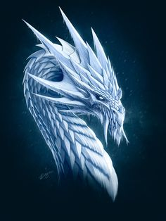 Ice Dragon by Nick Deligaris ~ Deligaris.deviantart.com on @deviantART ♥ Brrr. Dragon makes me shiver in more ways than one!