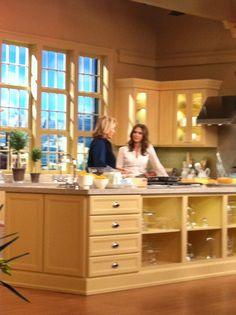Jessica on the set with Martha Stewart!!