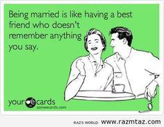 BEING MARRIED IS LIKE … | Raz's World