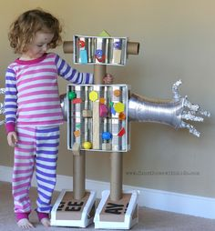 Life-Sized Magnetic Robot | FUN AT HOME WITH KIDS