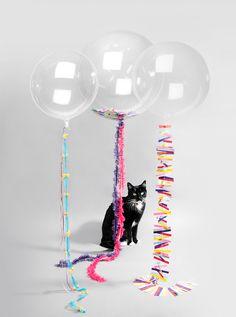 Glitter-filled balloons