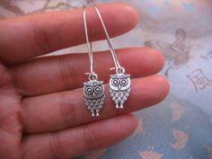 Owl Earrings  Tibetan Silver Antiqued Silver by jingsbeadingworld, $12.00