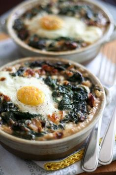 Spinach and Buckwheat Egg Bake. #recipes #foodporn #breakfasts