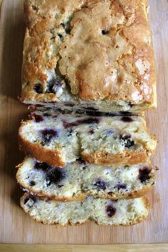 Blueberry Cream Cheese Bread: loaded w  blueberries & chunks of cream cheese.  I like the chunks of cream cheese part!  :)