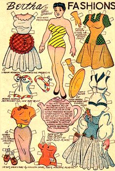 Bertha Fashions by Bill Woggon, c. 1957