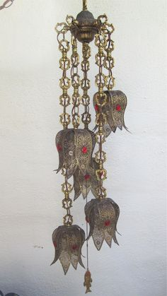 VINTAGE HANGING SWAG   5 Light - Lamp  -  Moroccan Style. $299.00, via Etsy.
