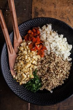 Three Grain Salad with Grilled Veg and Feta   Naturally Ella