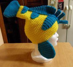 flounder disney, flounderhat00000jpg 800735, sew, flounder hat, knit, disney crochet hats, costum idea, little mermaid crochet, halloween