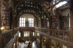 In 1889, British prime minister William Gladstone decided to make his 32,000-book library available to the public. Further, he envisioned the space (located in Wales) as a sort of scholarly hotel, at which visitors might spend the night and enjoy meals. And you still can!  For a very reasonable $75 per night (dinner and breakfast included), you can stay in a lovely room, have access to the entire library, and roam the gorgeous grounds. Just my cup of tea!
