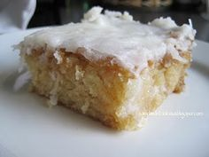 White Texas Sheet Cake with Coconut Frosting