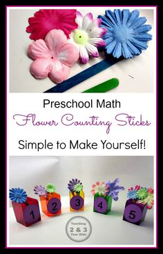 Teaching 2 and 3 Year Olds: Preschool Counting Activity for Spring