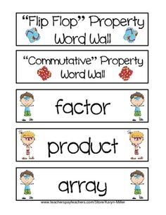"""Flip Flop Fact Family Fun Word Wall FREEBIE - Word Wall I created to go compliment my """"Flip FlopFact Family House Fun"""" files, both beginner and advanced. Check them out!!! My students confidence skyrocketed as they worked through these activities and truly LOVED them!!! Great for 2nd grade and up!!!"""