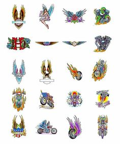 Harley-Davidson Tattoos for Women | Harley Davidson Motorcycle Tattoos What Do They Mean Harley ...