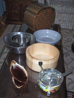 Joan's yard sale treasures.